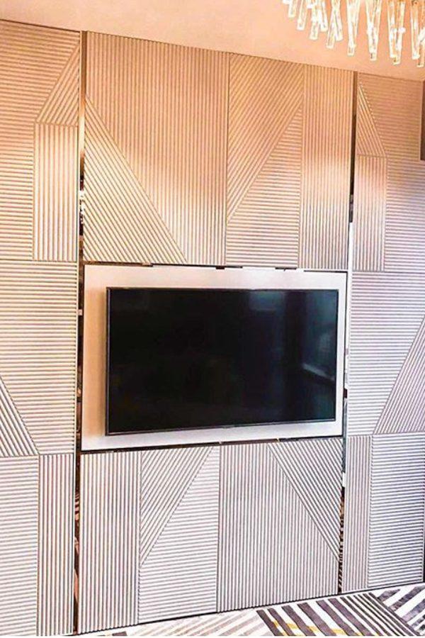 3D Fluted MDF panels